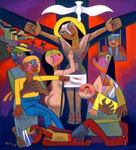 The Crucifixion, by He Qi
