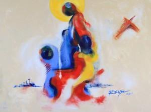 """""""Follow me,"""" by Reynaldo."""